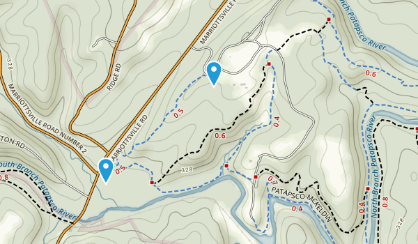 McKeldin Recreation Area Map