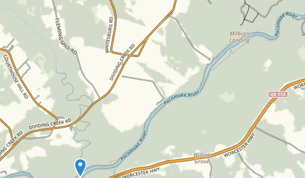 trail locations for Milburn Landing State Park