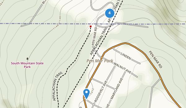 trail locations for Pen Mar Park