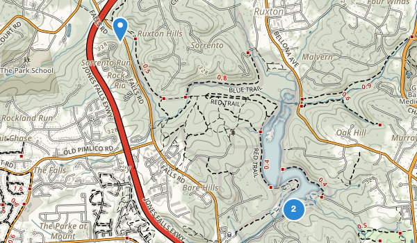 trail locations for Robert E Lee Park