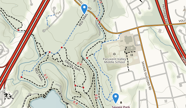 trail locations for Savage Park