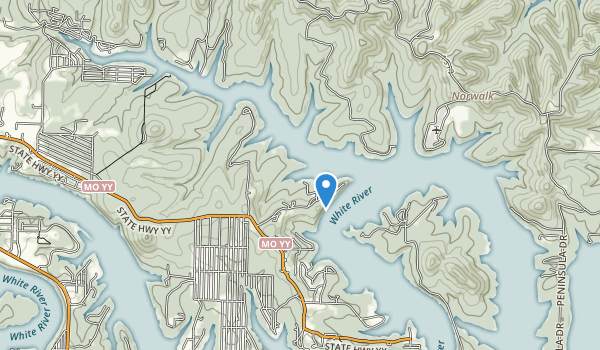 trail locations for Big Bay Public Use Area
