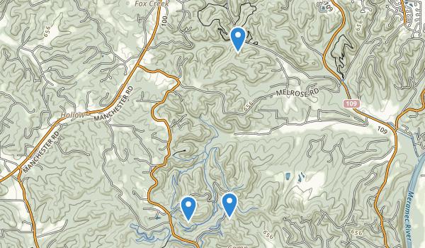 trail locations for Greensfelder County Park