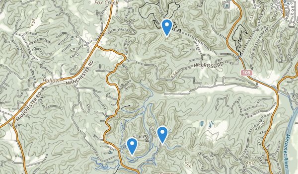 trail locations for Greensfelder County Park