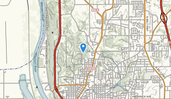 trail locations for Krug Park