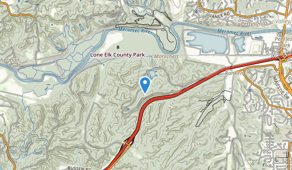 Lone Elk County Park Map