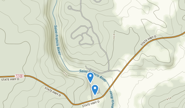 trail locations for Silver Mine Recreation Area