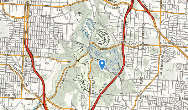 trail locations for Swope Park