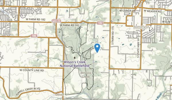 Wilson's Creek National Battlefield Map