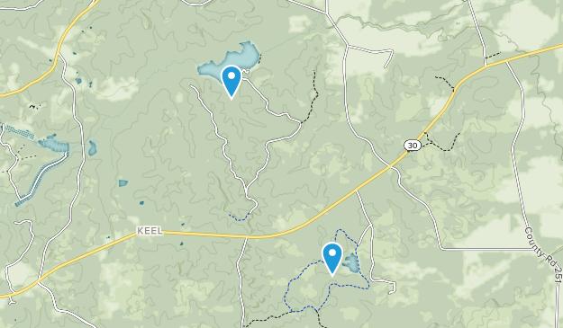 Puskus Lake Recreation Area Map