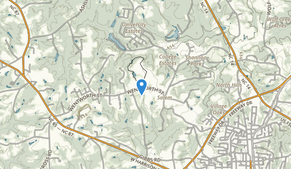 trail locations for Chinqua Penn Plantation Historical Landmark
