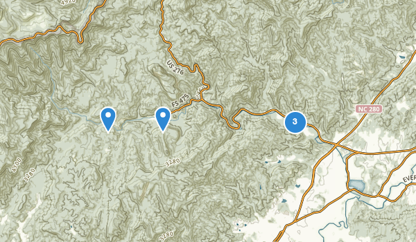 trail locations for Davidson River Recreational Area