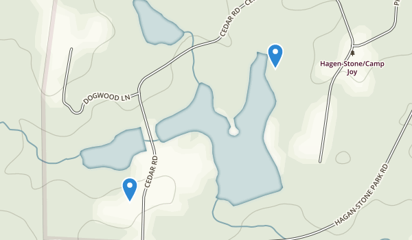 trail locations for Hagan Stone Park