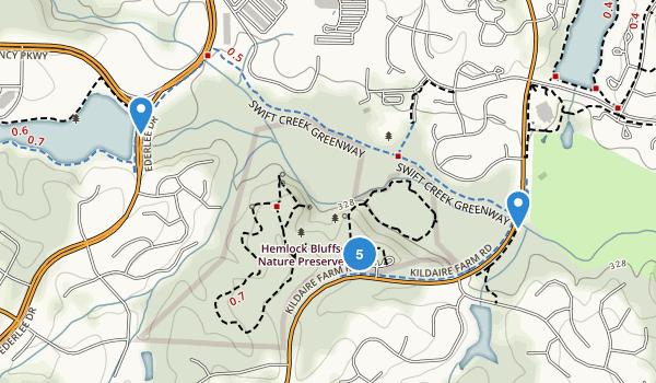 Hemlock Bluffs State Natural Area Map