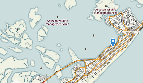 trail locations for Absecon State Wildlife Management Area