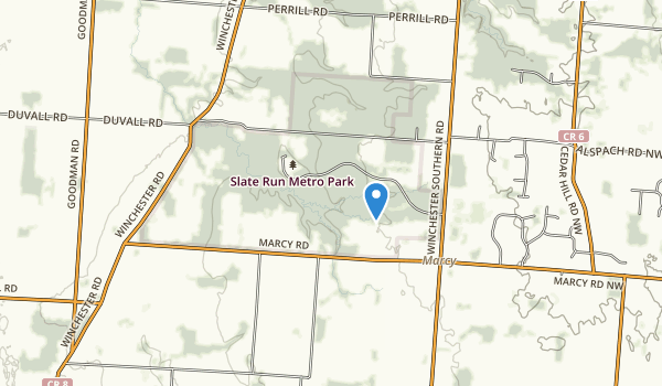 trail locations for Slate Run Metropolitan Park