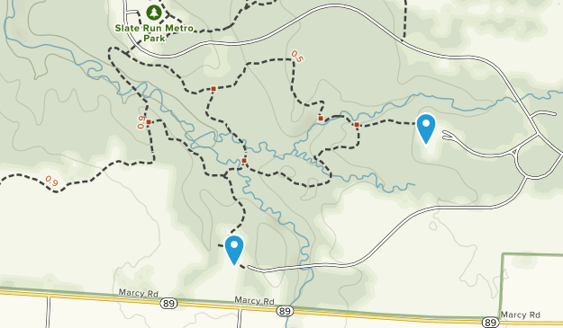Parque Metropolitano Slate Run Map