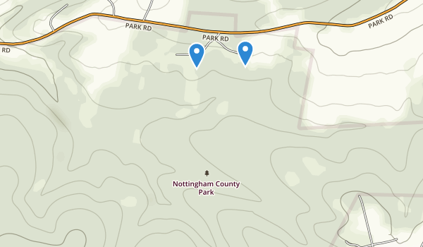 trail locations for Nottingham Park