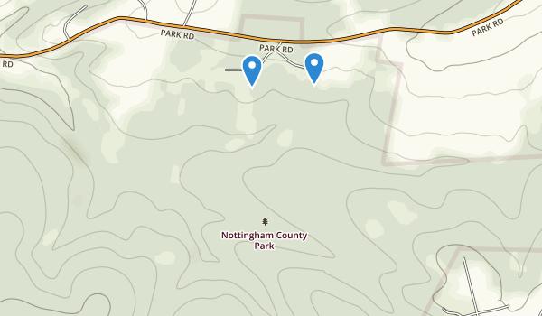 trail locations for Nottingham Park