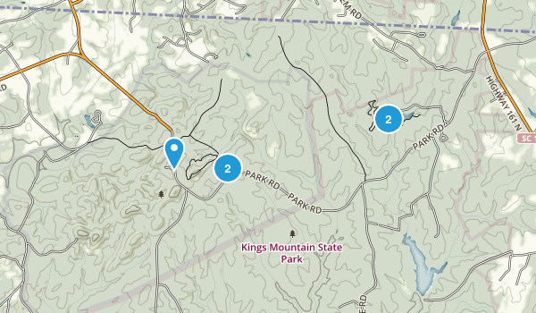 Kings Mountain National Military Park Map