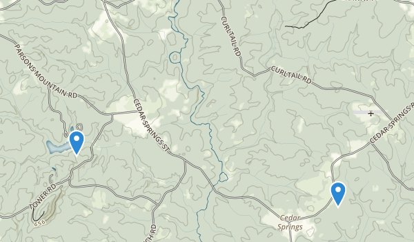 trail locations for Long Cane Scenic Area