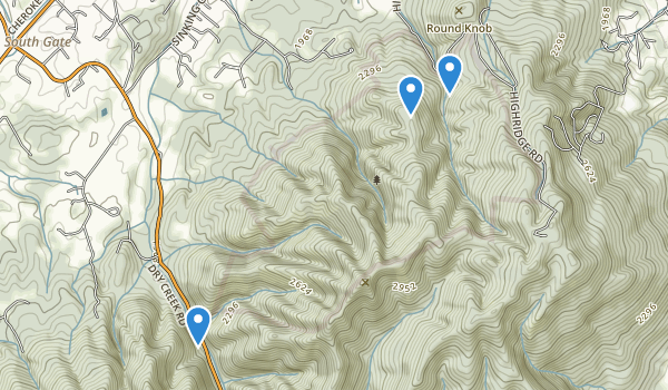 trail locations for Buffalo Mountain Park