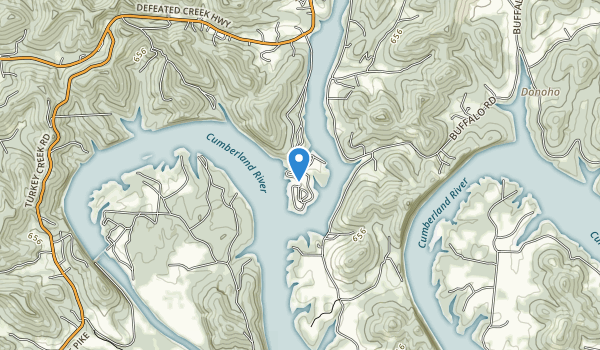 Defeated Creek Recreation Area Map