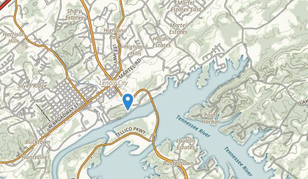 trail locations for Lenoir City Park