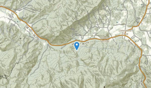 trail locations for Limestone Cove Recreation Area
