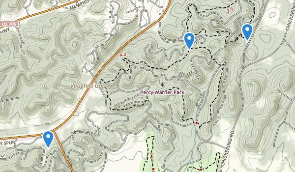 Percy Warner Park Map