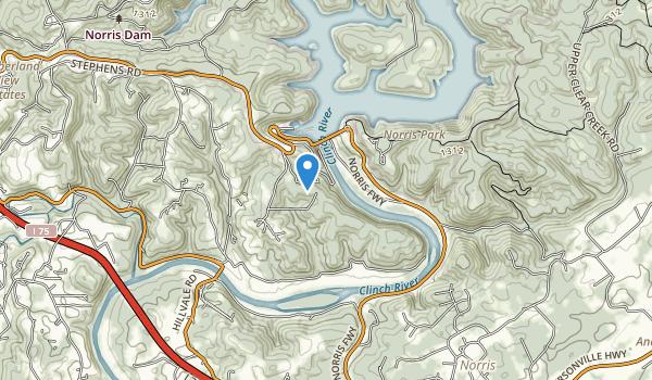 trail locations for River Bluff Small Wild Area