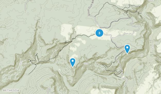 Área Natural del Estado de Virgin Falls Map