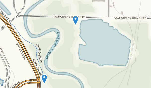 California Crossing Park Map