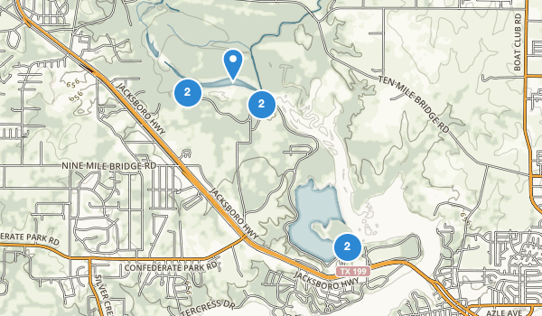 trail locations for Fort Worth Refuge