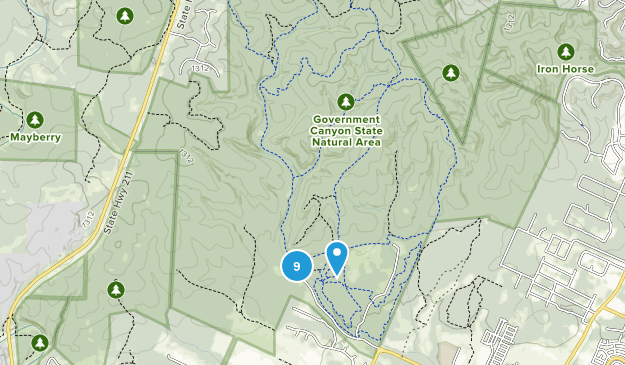 Government Canyon State Natural Area Map
