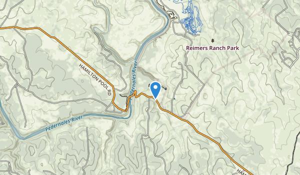 trail locations for Hamilton Pool Park