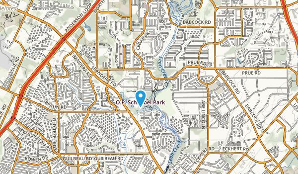 Leon Creek Greenway Park Map
