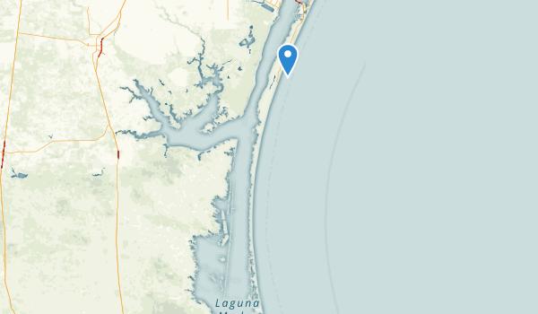 Padre Island National Seashore Map