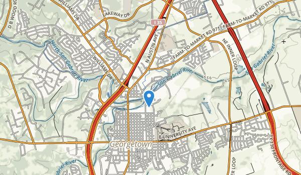trail locations for San Gabriel Park