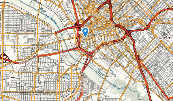 trail locations for Trinity River Greenbelt Park
