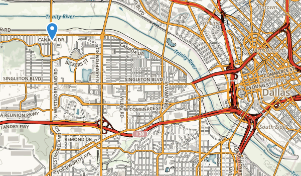 Trinity River Greenbelt Park Map