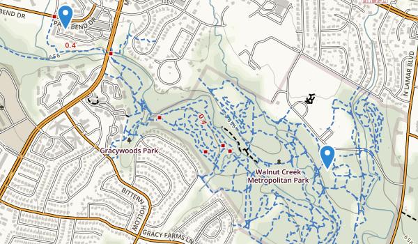 trail locations for Walnut Creek Metropolitan Park