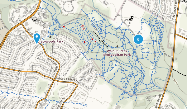 Walnut Creek Metropolitan Park Map