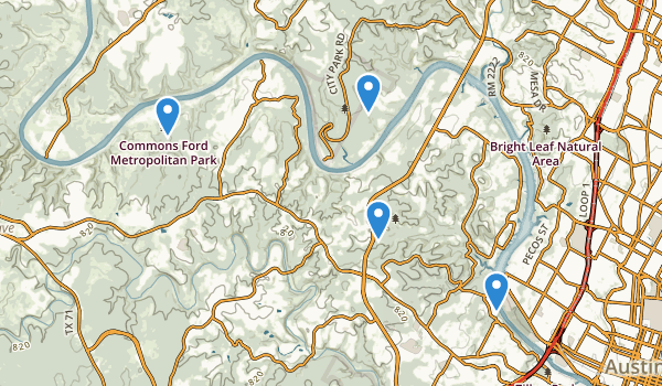 trail locations for Wild Basin Wilderness Park