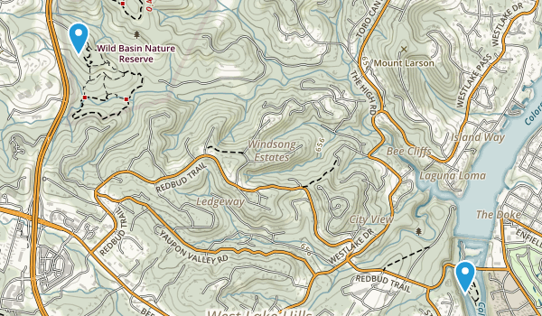 Wild Basin Wilderness Park Map