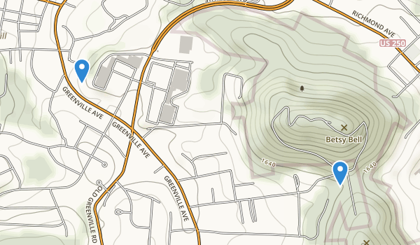 trail locations for Betsy Bell Park