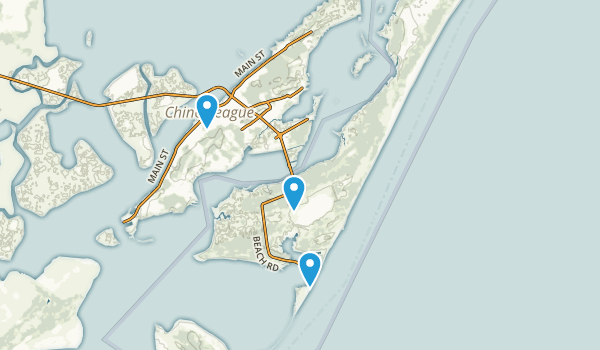 Chincoteague National Wildlife Refuge Map
