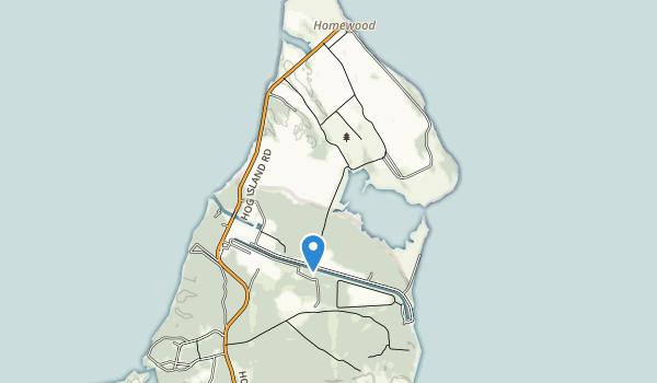Hog Island State Waterfowl Refuge Map