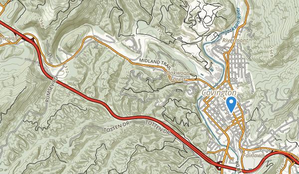 trail locations for Humpback Bridge Wayside
