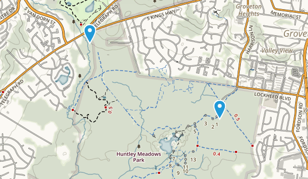 Huntley Meadows Park Map